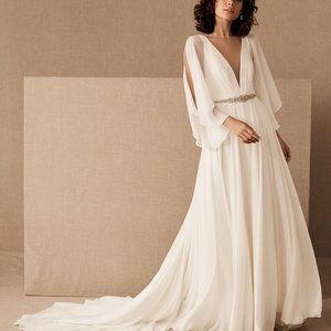 BHLDN Jenny Yoo Rivers Wedding Gown Size 2